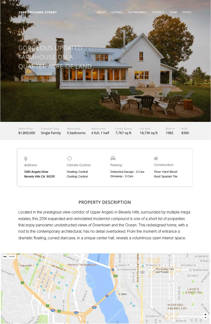 Sample Property Website