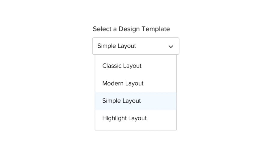 propopen select design template